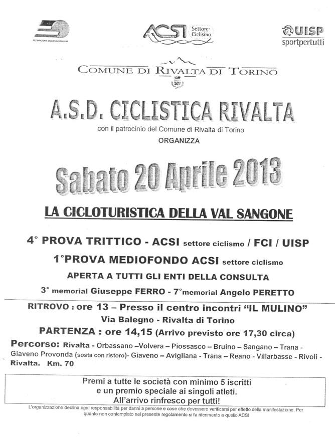 La Cicloturistica della Val Sangone 2013